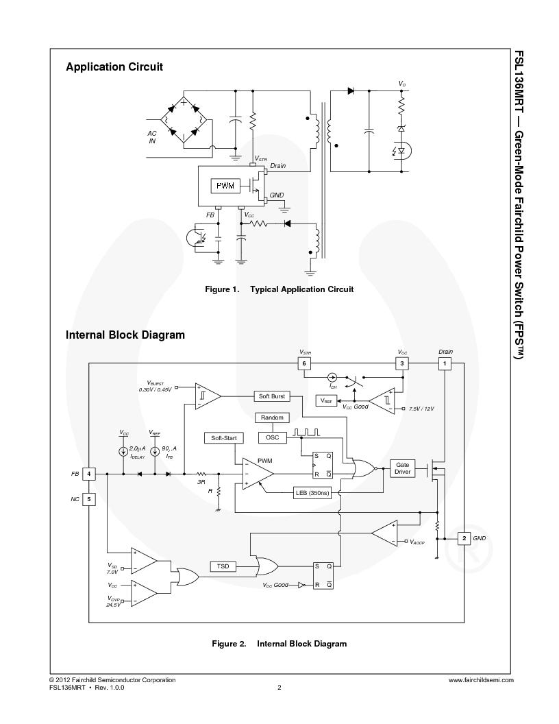 FSL136MRTWDTU ,Fairchild Semiconductor厂商,IC OFF-LINE SWITCH PWM TO220-6, FSL136MRTWDTU datasheet预览  第2页