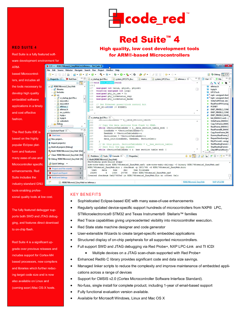 RSPK-PLUS ,Code Red Technologies厂商,Development Software RED SUITE LICENSE W/ RED PROBE+, RSPK-PLUS datasheet预览  第1页