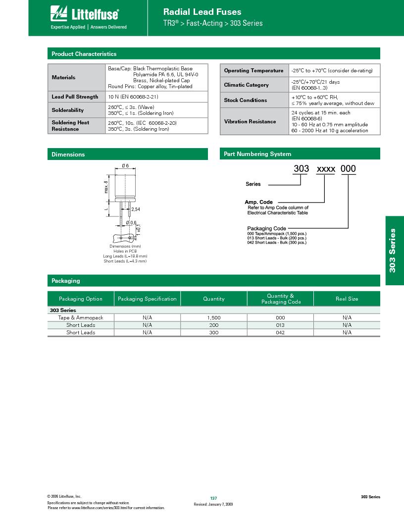0303020.M ,Littelfuse Inc厂商,Fuses 32V 7AG AGW 2A, 0303020.M datasheet预览  第3页