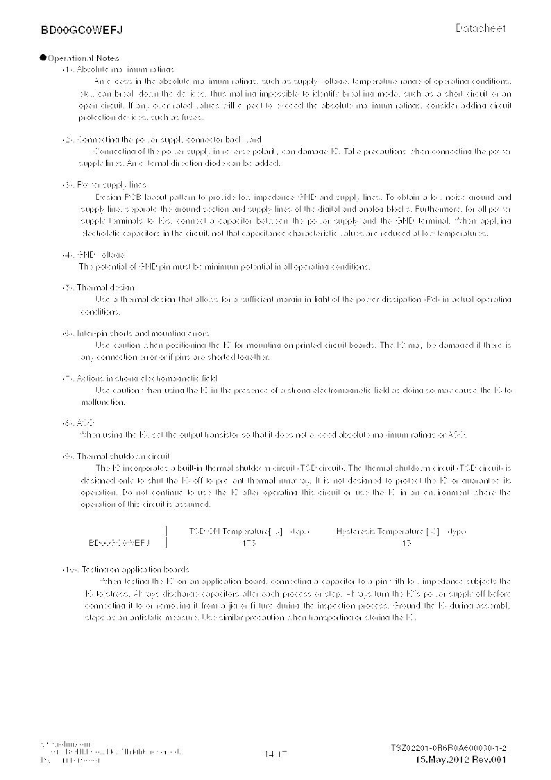 BD00GC0WEFJ-E2 ,Rohm Semiconductor厂商,IC REG LDO ADJ 1A 8-HTSOP, BD00GC0WEFJ-E2 datasheet预览  第14页