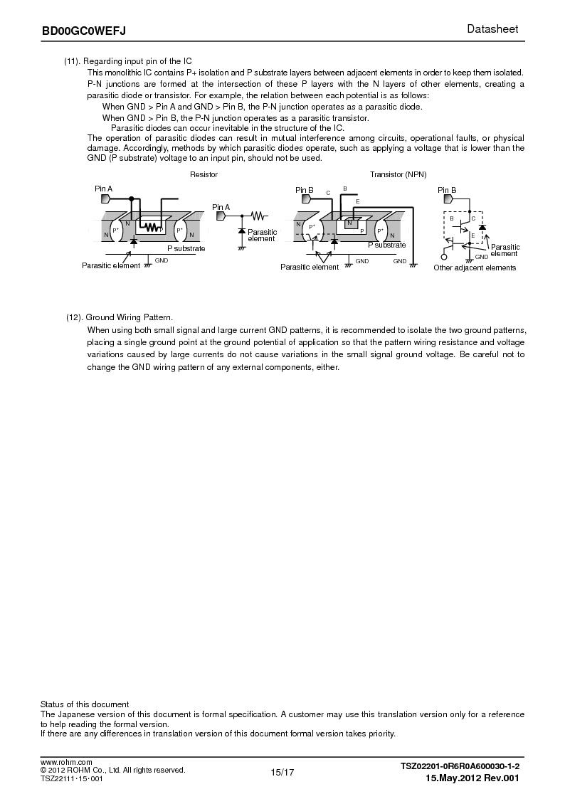 BD00GC0WEFJ-E2 ,Rohm Semiconductor厂商,IC REG LDO ADJ 1A 8-HTSOP, BD00GC0WEFJ-E2 datasheet预览  第15页