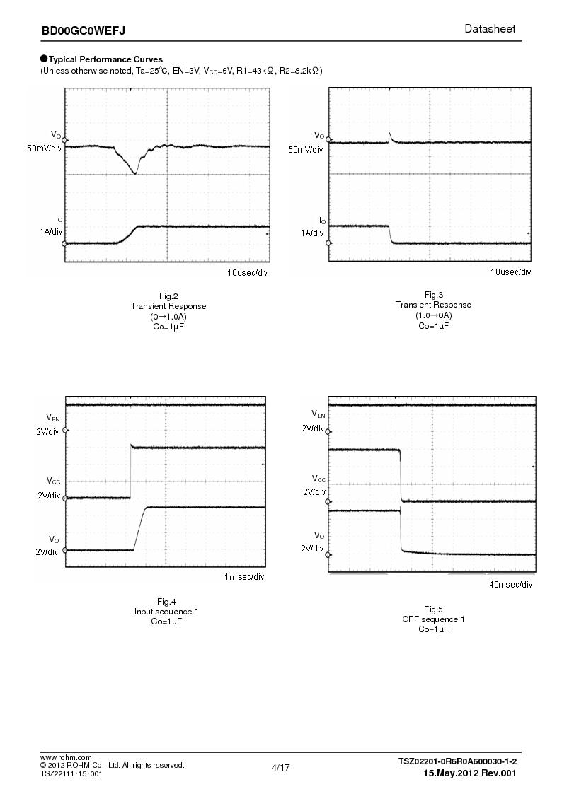 BD00GC0WEFJ-E2 ,Rohm Semiconductor厂商,IC REG LDO ADJ 1A 8-HTSOP, BD00GC0WEFJ-E2 datasheet预览  第4页