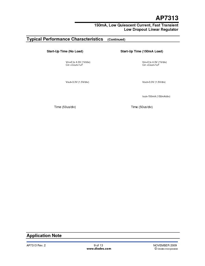 AP7313-18SAG-7 ,Diodes Inc厂商,IC REG LDO 1.8V .15A SOT23, AP7313-18SAG-7 datasheet预览  第9页