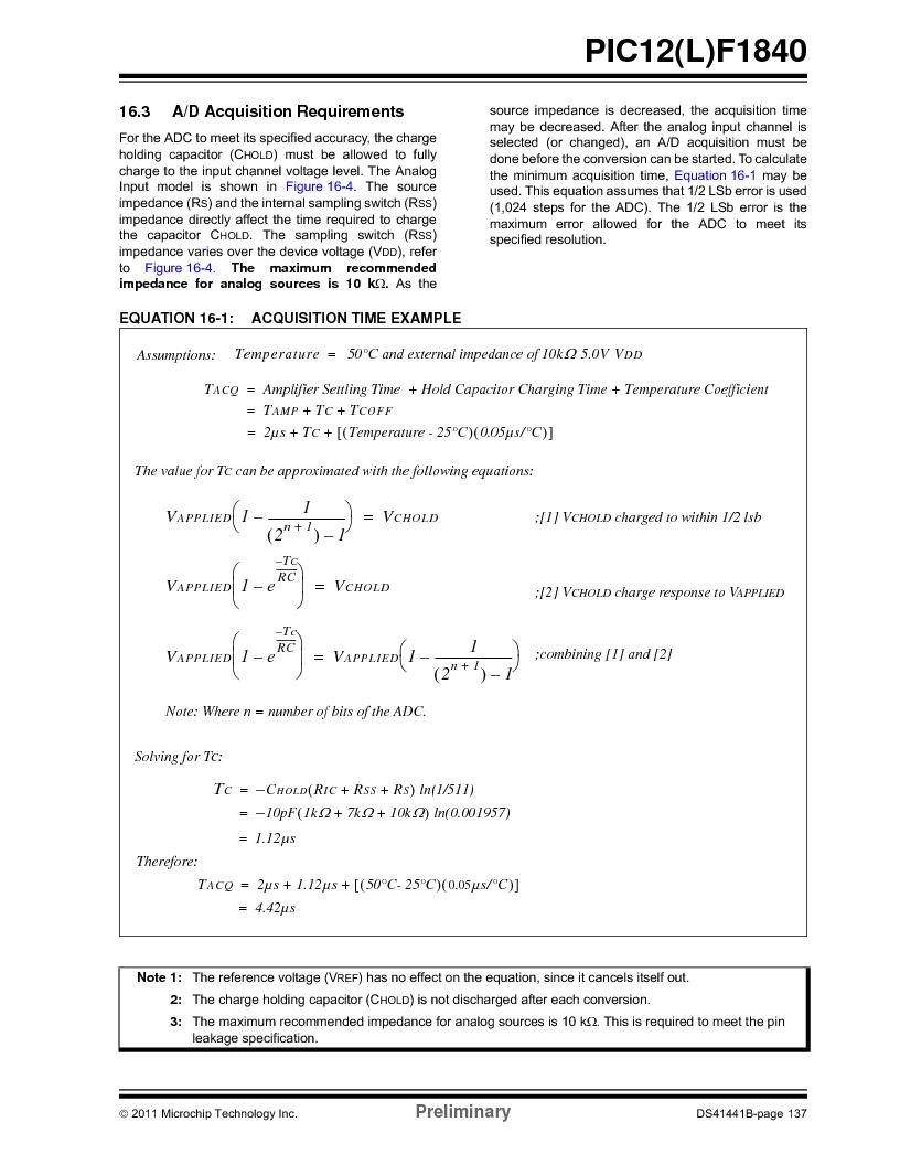 PIC12F1840-I/SN ,Microchip Technology厂商,MCU 7KB FLASH 256B RAM 8-SOIC, PIC12F1840-I/SN datasheet预览  第137页