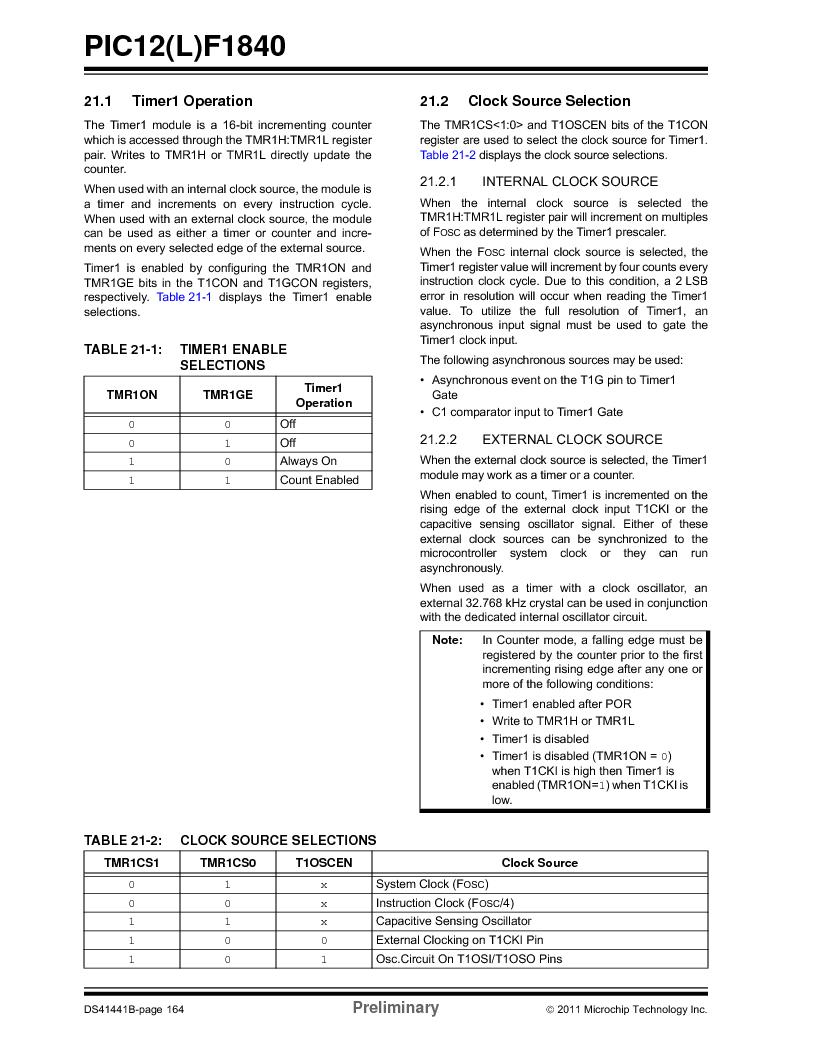 PIC12F1840-I/SN ,Microchip Technology厂商,MCU 7KB FLASH 256B RAM 8-SOIC, PIC12F1840-I/SN datasheet预览  第164页