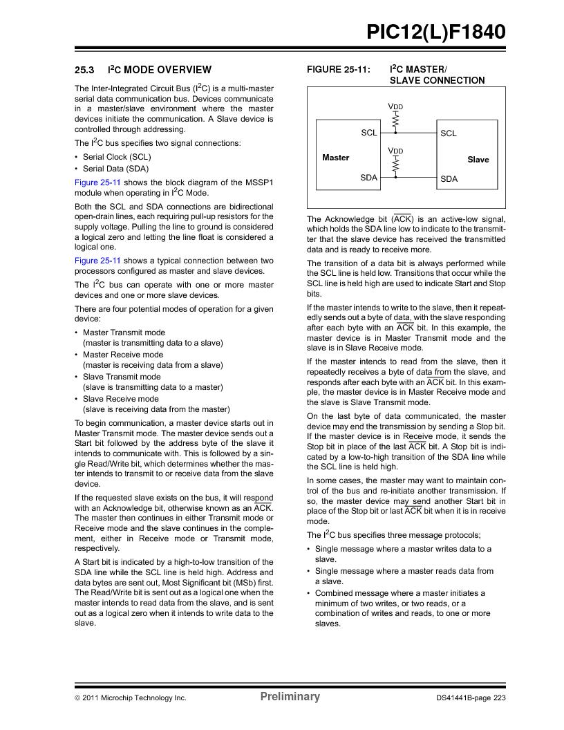 PIC12F1840-I/SN ,Microchip Technology厂商,MCU 7KB FLASH 256B RAM 8-SOIC, PIC12F1840-I/SN datasheet预览  第223页