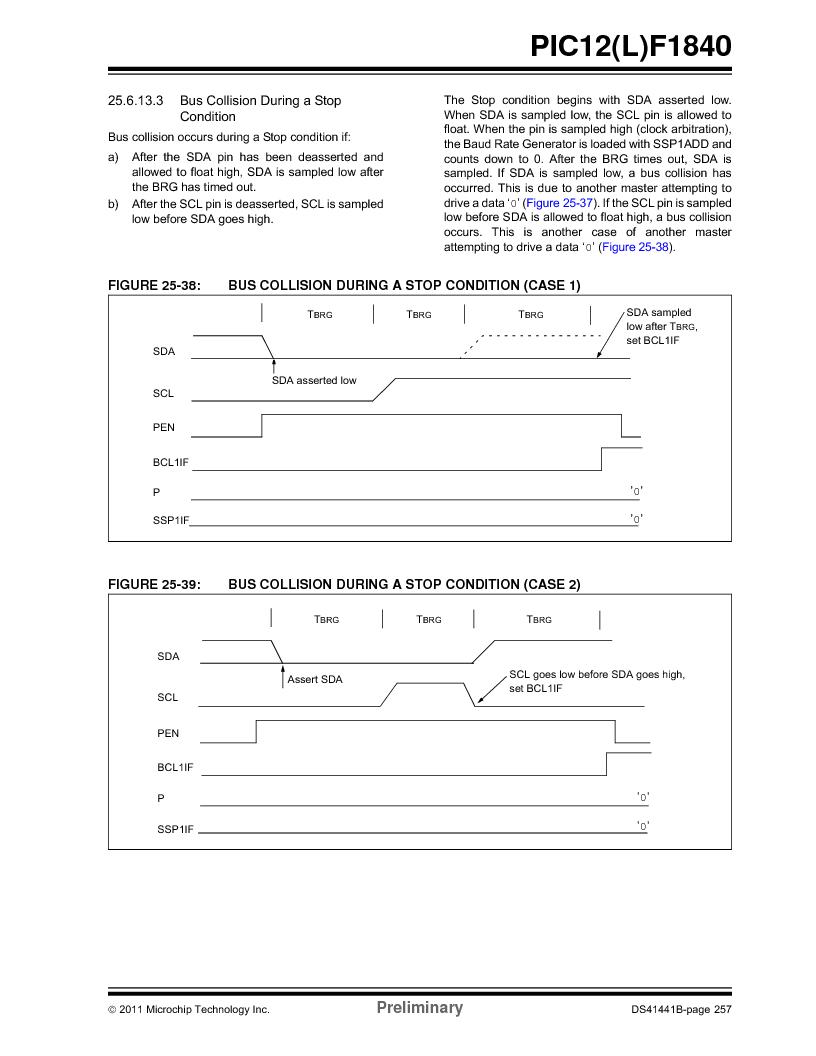 PIC12F1840-I/SN ,Microchip Technology厂商,MCU 7KB FLASH 256B RAM 8-SOIC, PIC12F1840-I/SN datasheet预览  第257页