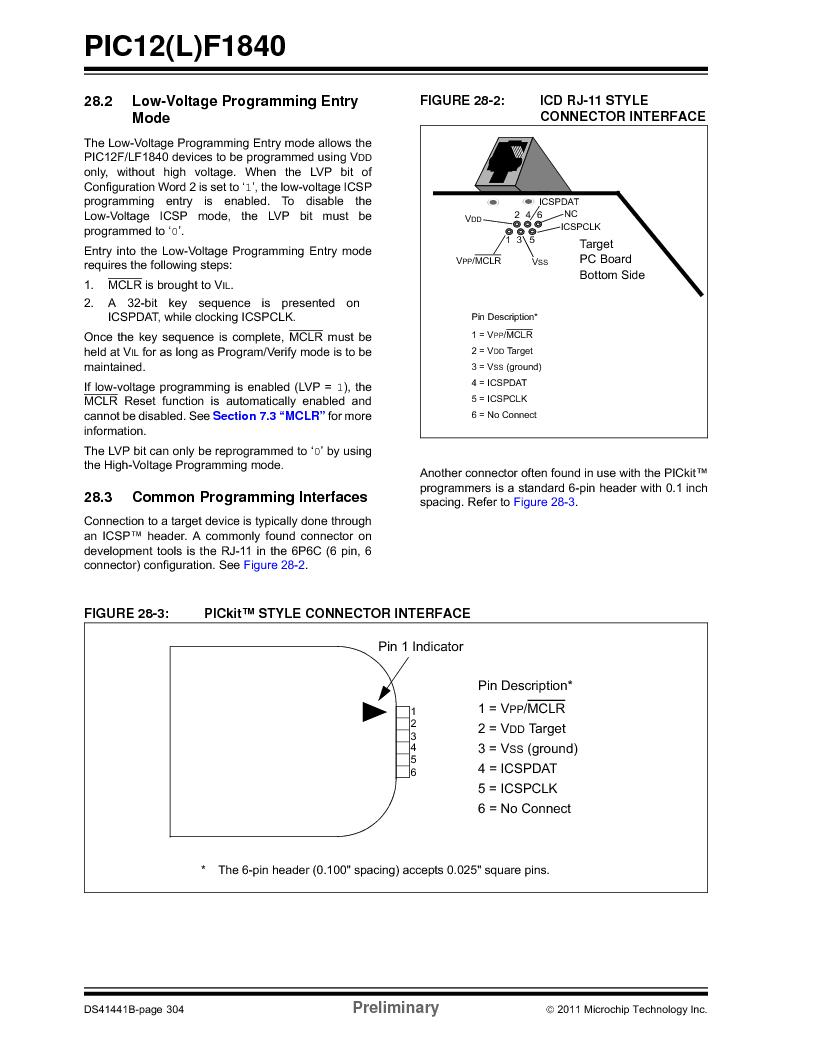 PIC12F1840-I/SN ,Microchip Technology厂商,MCU 7KB FLASH 256B RAM 8-SOIC, PIC12F1840-I/SN datasheet预览  第304页