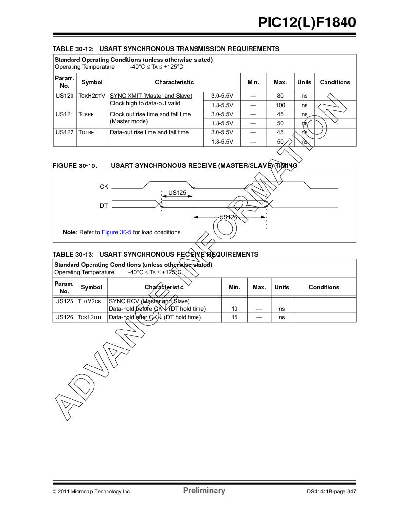 PIC12F1840-I/SN ,Microchip Technology厂商,MCU 7KB FLASH 256B RAM 8-SOIC, PIC12F1840-I/SN datasheet预览  第347页
