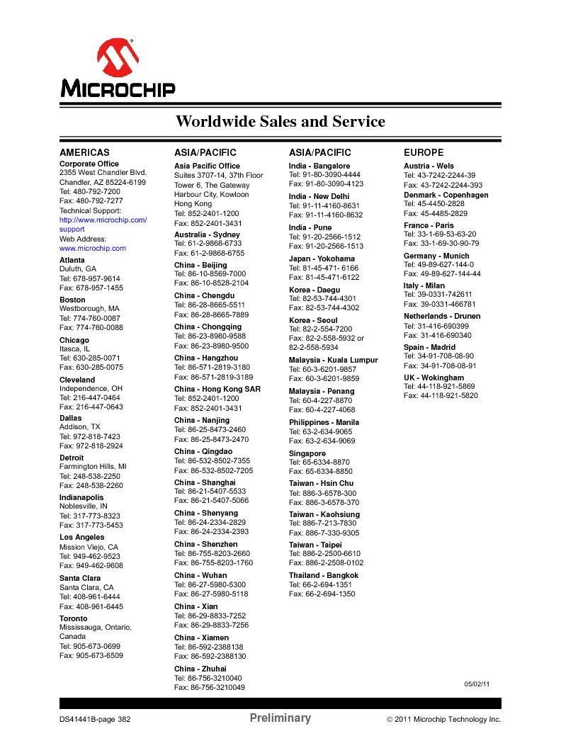 PIC12F1840-I/SN ,Microchip Technology厂商,MCU 7KB FLASH 256B RAM 8-SOIC, PIC12F1840-I/SN datasheet预览  第382页