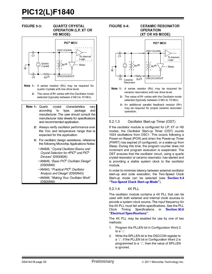 PIC12F1840-I/SN ,Microchip Technology厂商,MCU 7KB FLASH 256B RAM 8-SOIC, PIC12F1840-I/SN datasheet预览  第50页