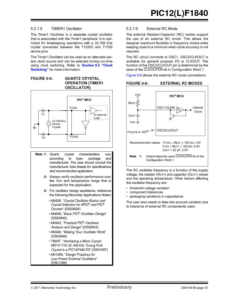 PIC12F1840-I/SN ,Microchip Technology厂商,MCU 7KB FLASH 256B RAM 8-SOIC, PIC12F1840-I/SN datasheet预览  第51页