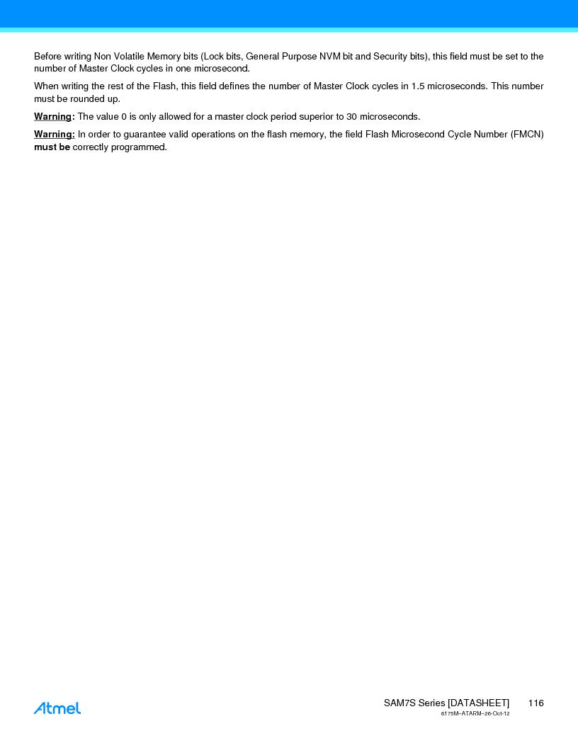 AT91SAM7S128D-AU-999 ,Atmel厂商,IC MCU ARM7 128KB FLASH 64LQFP, AT91SAM7S128D-AU-999 datasheet预览  第116页