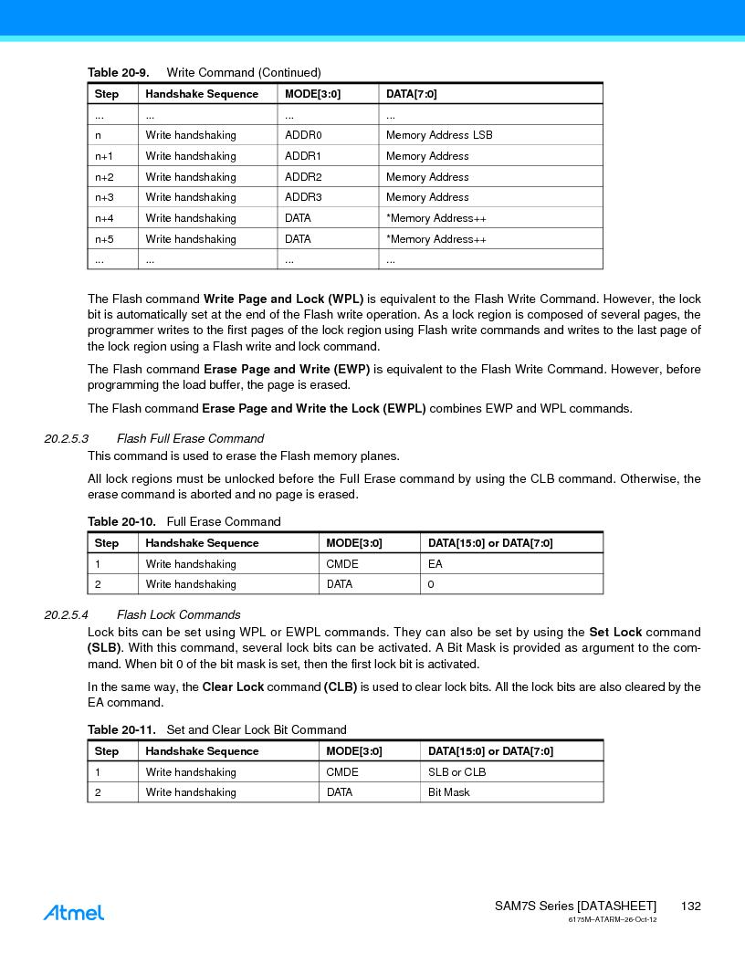 AT91SAM7S128D-AU-999 ,Atmel厂商,IC MCU ARM7 128KB FLASH 64LQFP, AT91SAM7S128D-AU-999 datasheet预览  第132页