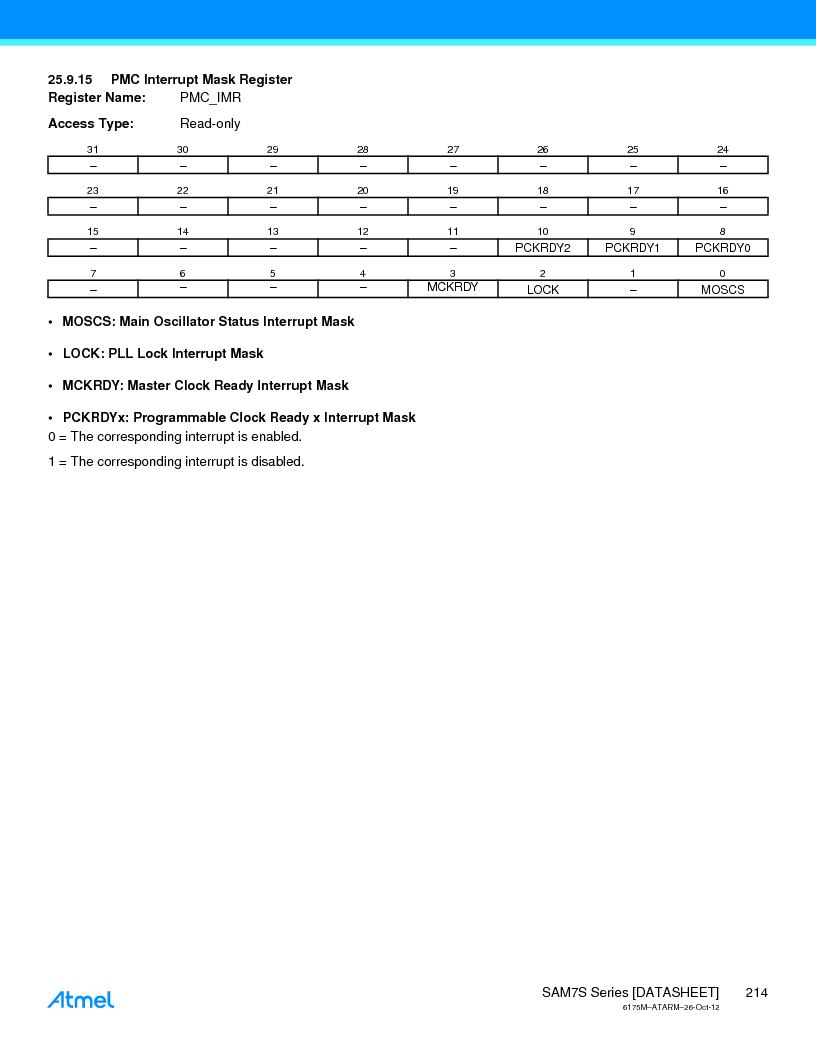 AT91SAM7S128D-AU-999 ,Atmel厂商,IC MCU ARM7 128KB FLASH 64LQFP, AT91SAM7S128D-AU-999 datasheet预览  第214页
