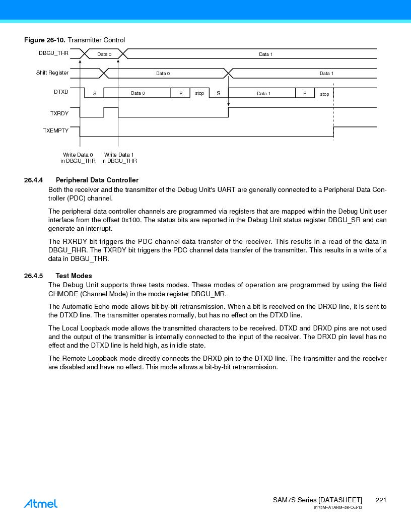 AT91SAM7S128D-AU-999 ,Atmel厂商,IC MCU ARM7 128KB FLASH 64LQFP, AT91SAM7S128D-AU-999 datasheet预览  第221页
