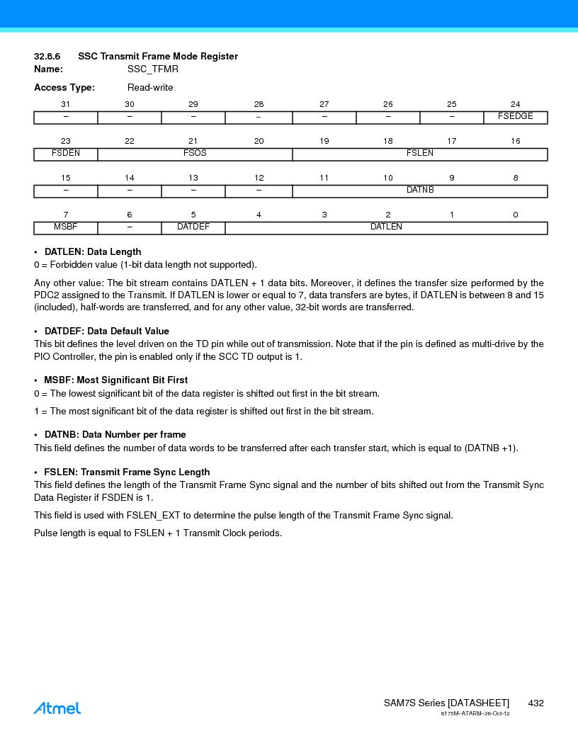 AT91SAM7S128D-AU-999 ,Atmel厂商,IC MCU ARM7 128KB FLASH 64LQFP, AT91SAM7S128D-AU-999 datasheet预览  第432页