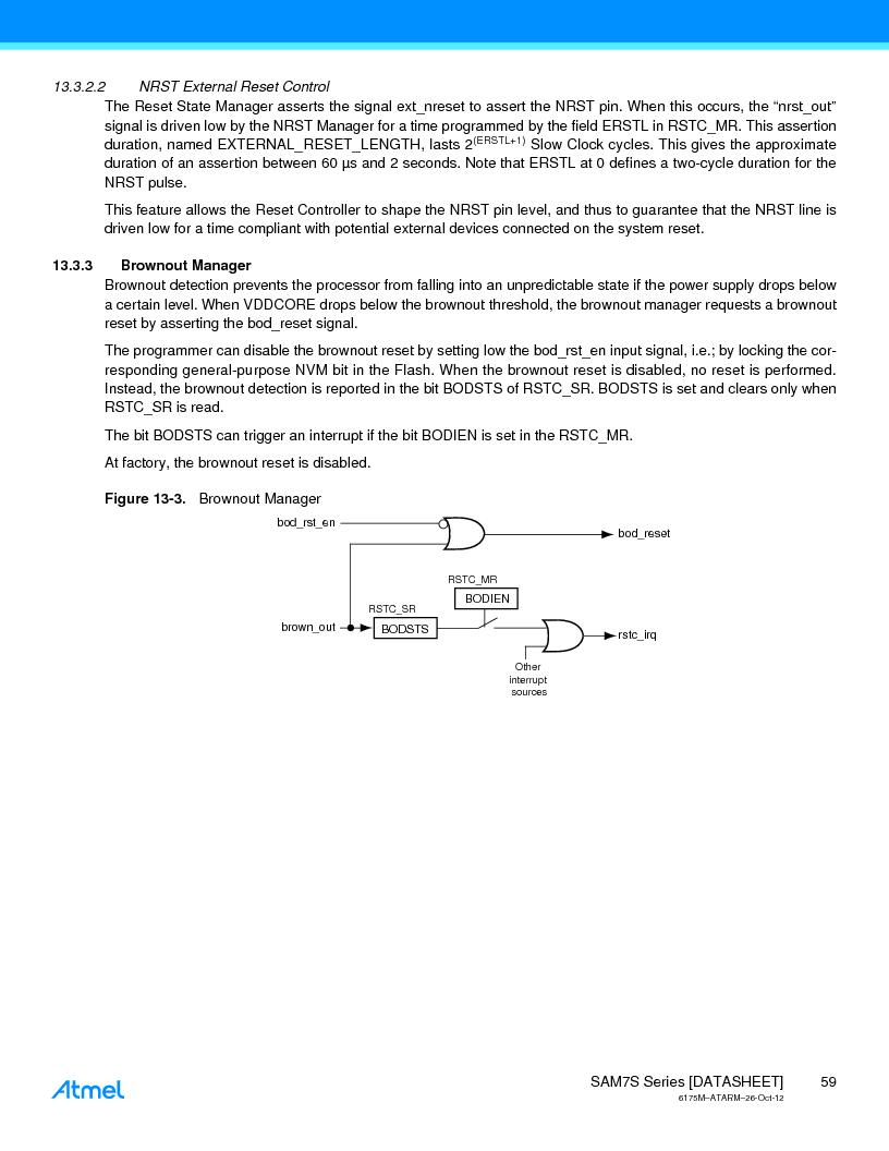 AT91SAM7S128D-AU-999 ,Atmel厂商,IC MCU ARM7 128KB FLASH 64LQFP, AT91SAM7S128D-AU-999 datasheet预览  第59页