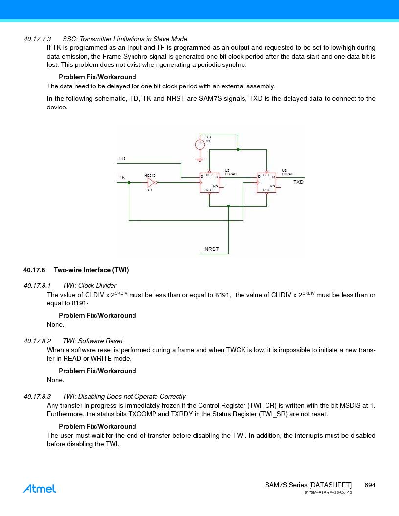 AT91SAM7S128D-AU-999 ,Atmel厂商,IC MCU ARM7 128KB FLASH 64LQFP, AT91SAM7S128D-AU-999 datasheet预览  第694页