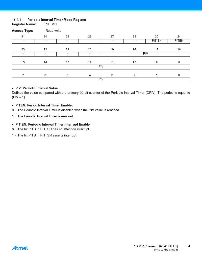 AT91SAM7S128D-AU-999 ,Atmel厂商,IC MCU ARM7 128KB FLASH 64LQFP, AT91SAM7S128D-AU-999 datasheet预览  第84页