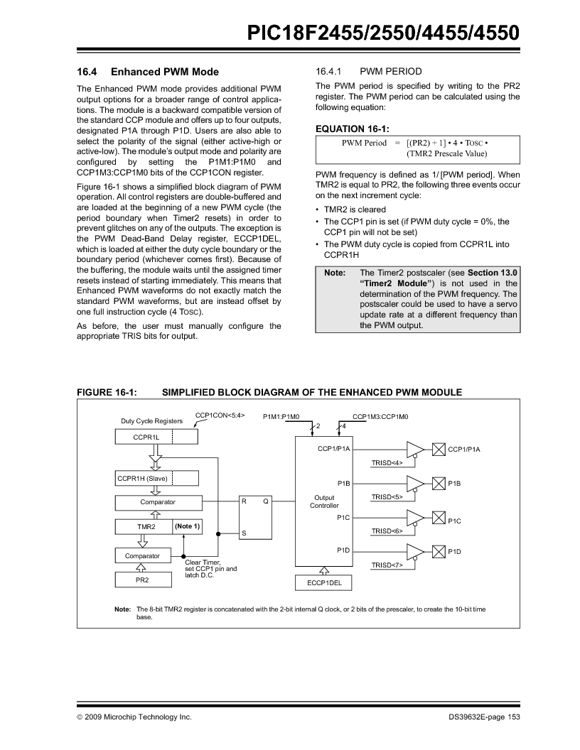 PIC18F2550-I/SP ,Microchip Technology厂商,IC PIC MCU FLASH 16KX16 28SDIP, PIC18F2550-I/SP datasheet预览  第155页