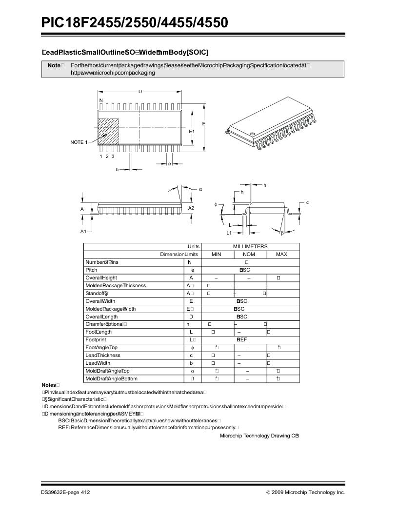 PIC18F2550-I/SP ,Microchip Technology厂商,IC PIC MCU FLASH 16KX16 28SDIP, PIC18F2550-I/SP datasheet预览  第414页