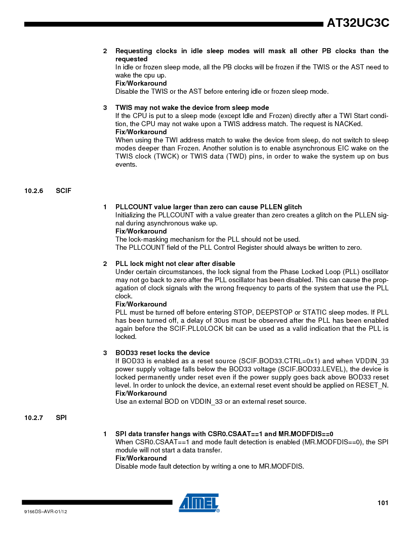 AT32UC3C1512C-AZT ,Atmel厂商,IC MCU 32BIT 512KB FLASH 100TQFP, AT32UC3C1512C-AZT datasheet预览  第101页