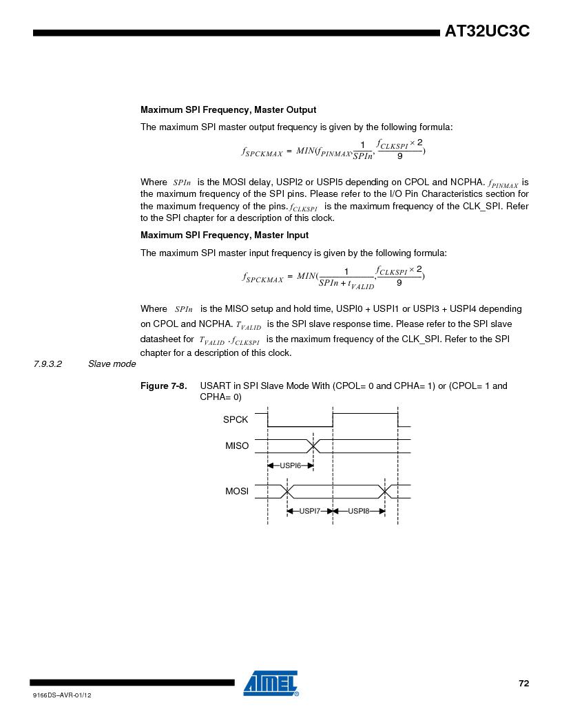AT32UC3C1512C-AZT ,Atmel厂商,IC MCU 32BIT 512KB FLASH 100TQFP, AT32UC3C1512C-AZT datasheet预览  第72页