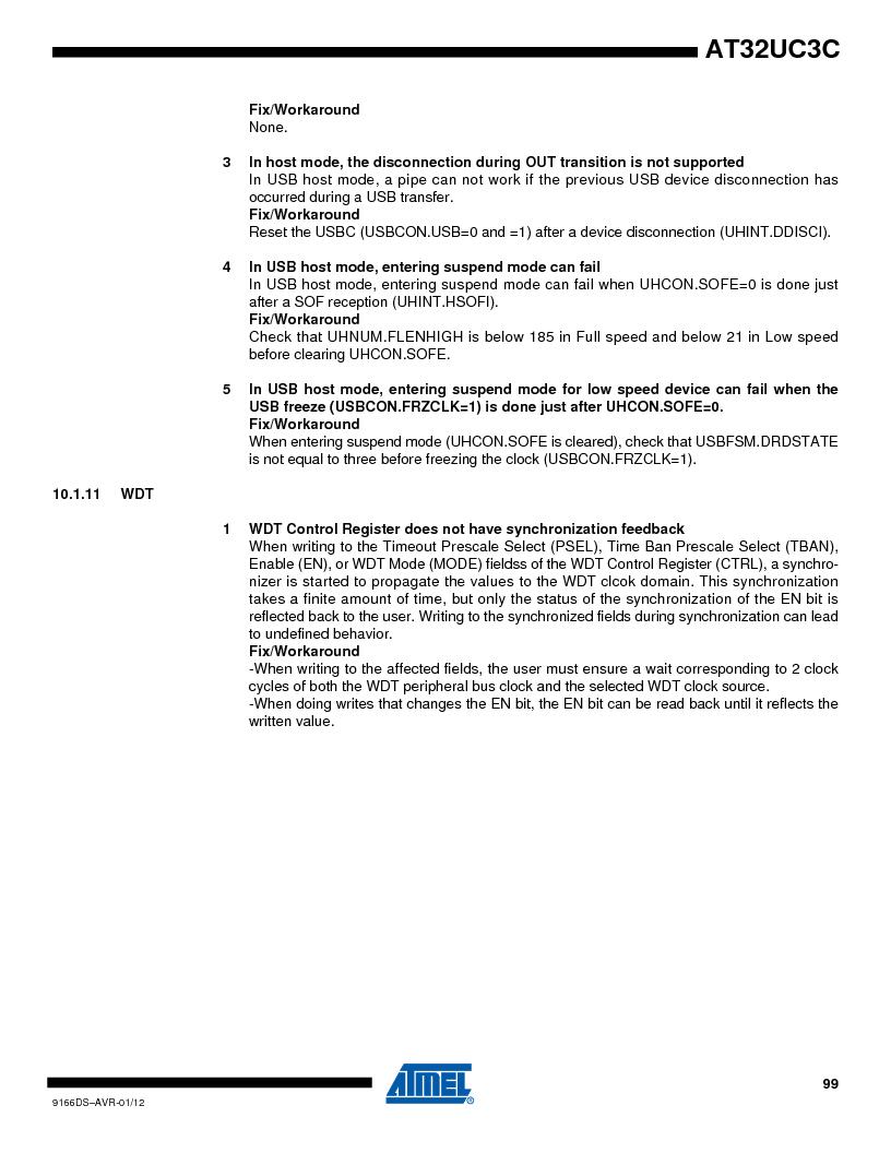 AT32UC3C1512C-AZT ,Atmel厂商,IC MCU 32BIT 512KB FLASH 100TQFP, AT32UC3C1512C-AZT datasheet预览  第99页