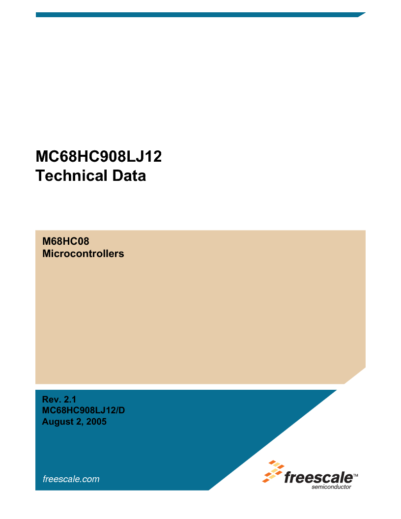 MC908LJ12CFUE ,Freescale Semiconductor厂商,IC MCU 12K FLASH 4/8MHZ 64-QFP, MC908LJ12CFUE datasheet预览  第1页