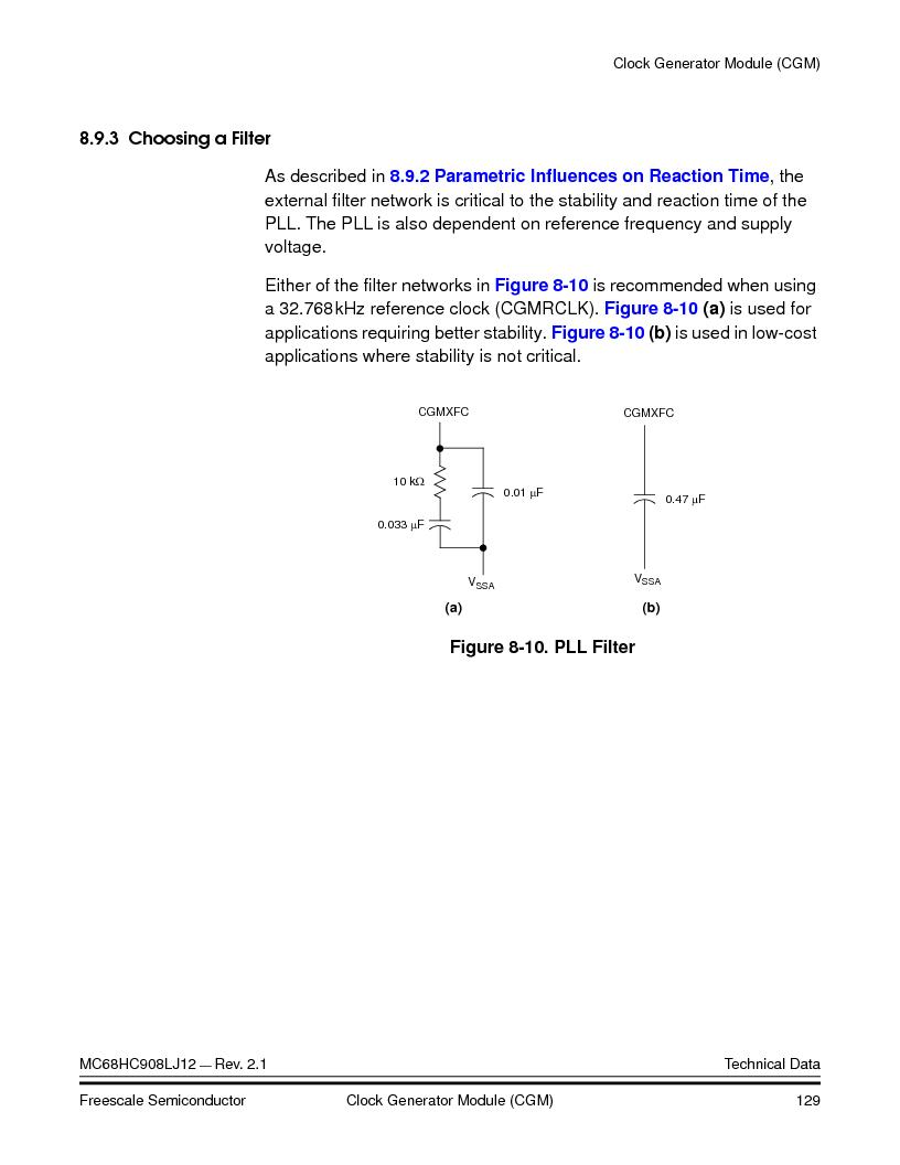 MC908LJ12CFUE ,Freescale Semiconductor厂商,IC MCU 12K FLASH 4/8MHZ 64-QFP, MC908LJ12CFUE datasheet预览  第129页