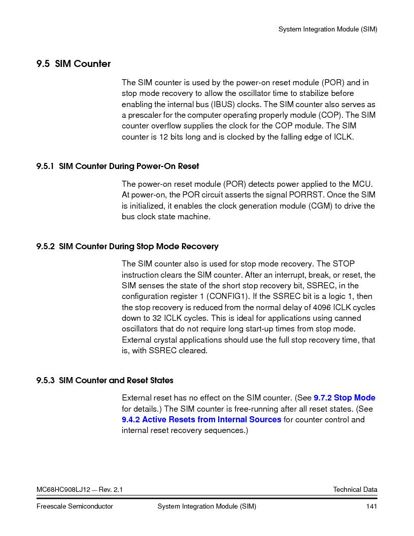 MC908LJ12CFUE ,Freescale Semiconductor厂商,IC MCU 12K FLASH 4/8MHZ 64-QFP, MC908LJ12CFUE datasheet预览  第141页