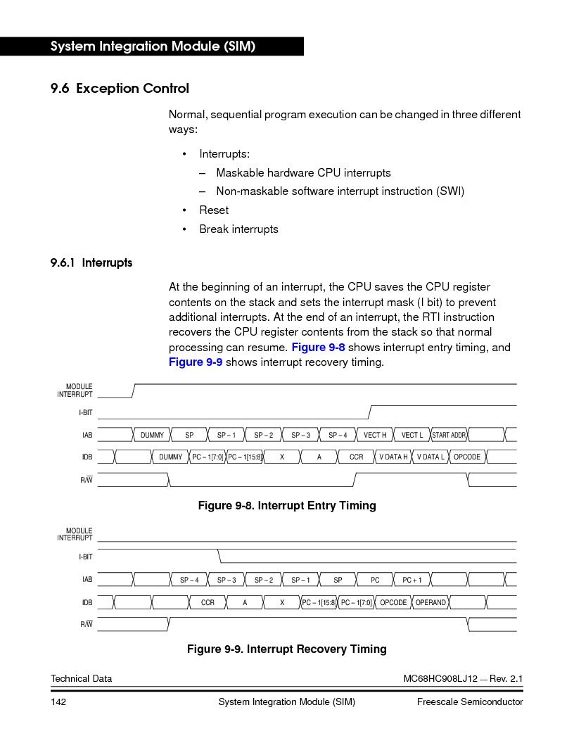 MC908LJ12CFUE ,Freescale Semiconductor厂商,IC MCU 12K FLASH 4/8MHZ 64-QFP, MC908LJ12CFUE datasheet预览  第142页