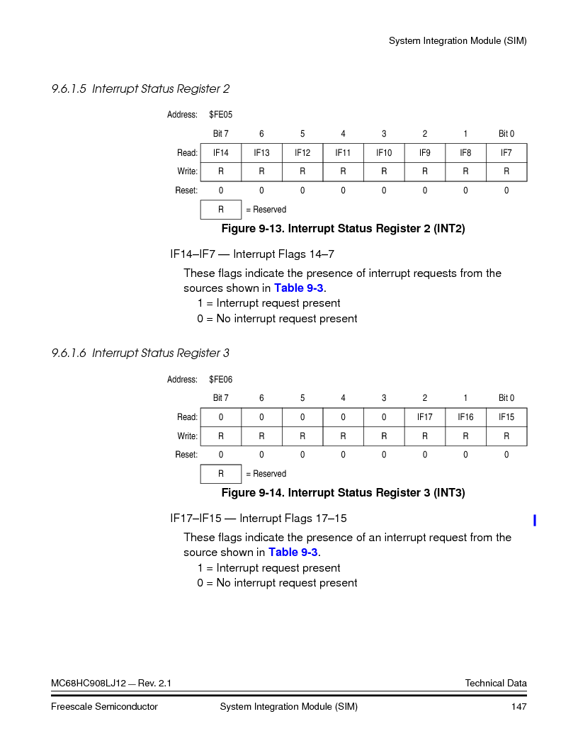 MC908LJ12CFUE ,Freescale Semiconductor厂商,IC MCU 12K FLASH 4/8MHZ 64-QFP, MC908LJ12CFUE datasheet预览  第147页
