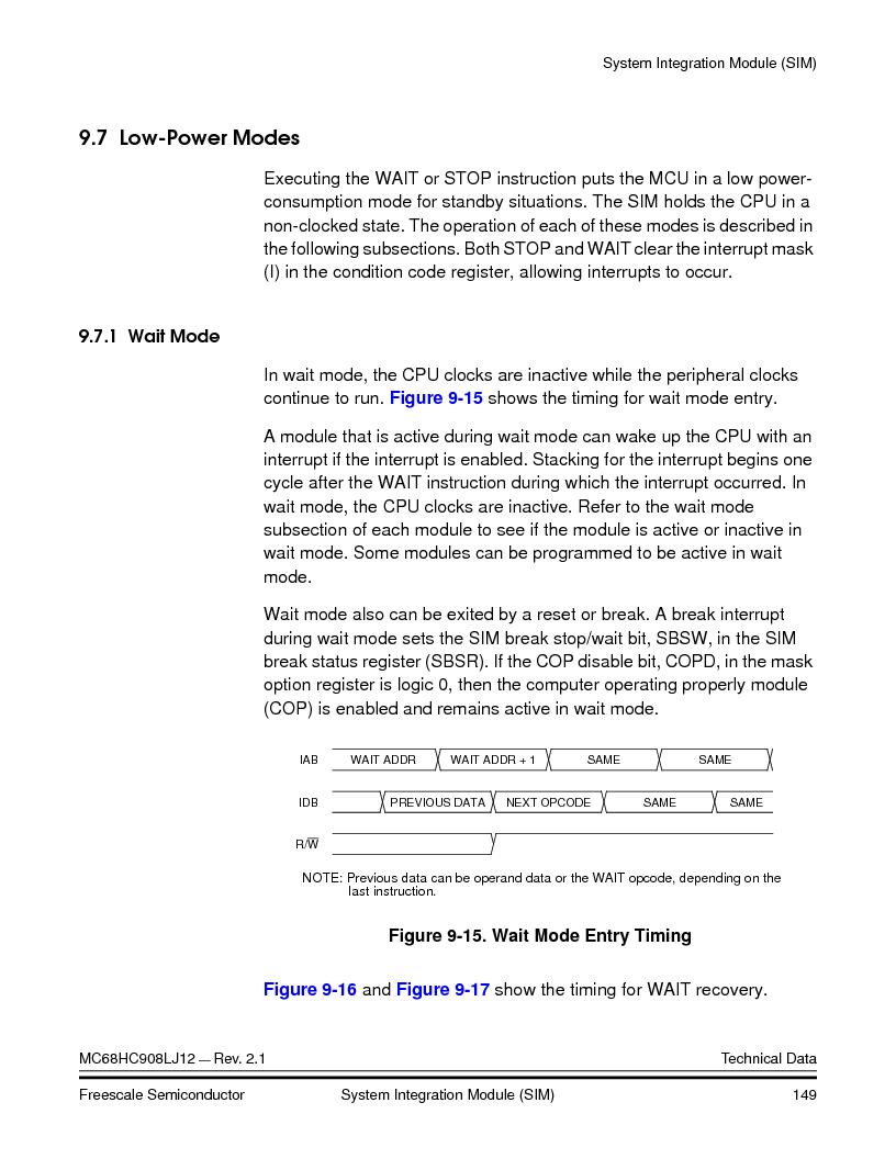MC908LJ12CFUE ,Freescale Semiconductor厂商,IC MCU 12K FLASH 4/8MHZ 64-QFP, MC908LJ12CFUE datasheet预览  第149页