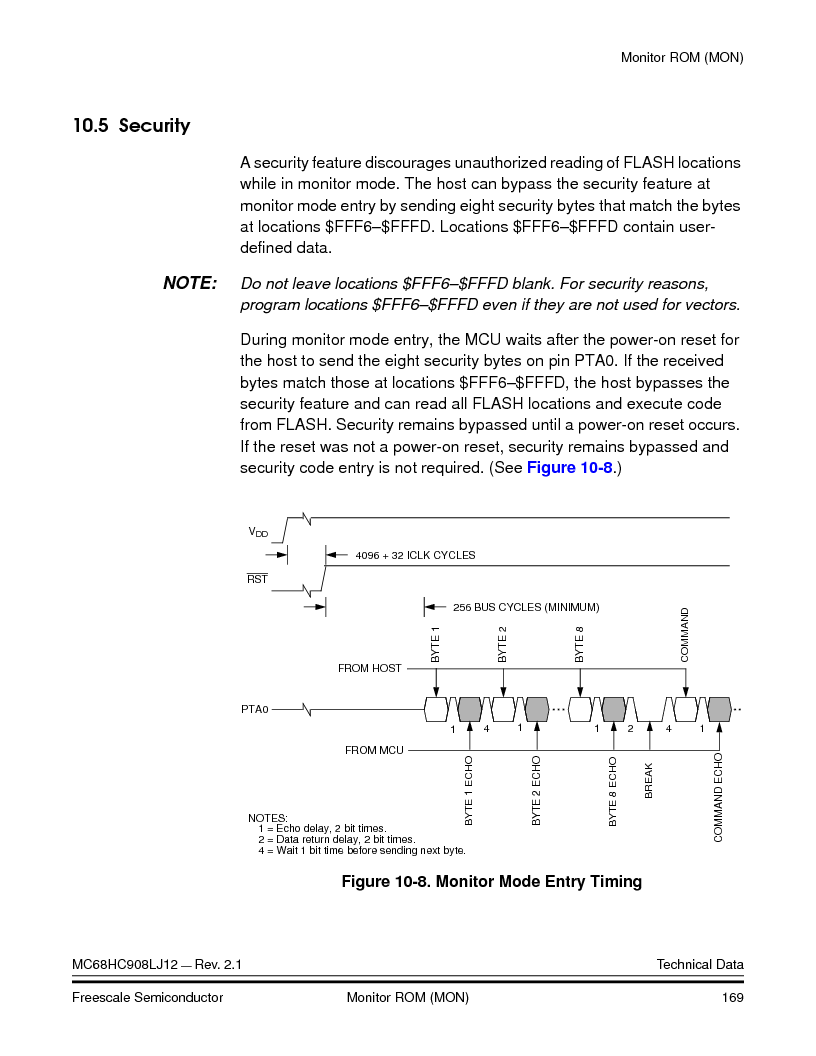 MC908LJ12CFUE ,Freescale Semiconductor厂商,IC MCU 12K FLASH 4/8MHZ 64-QFP, MC908LJ12CFUE datasheet预览  第169页