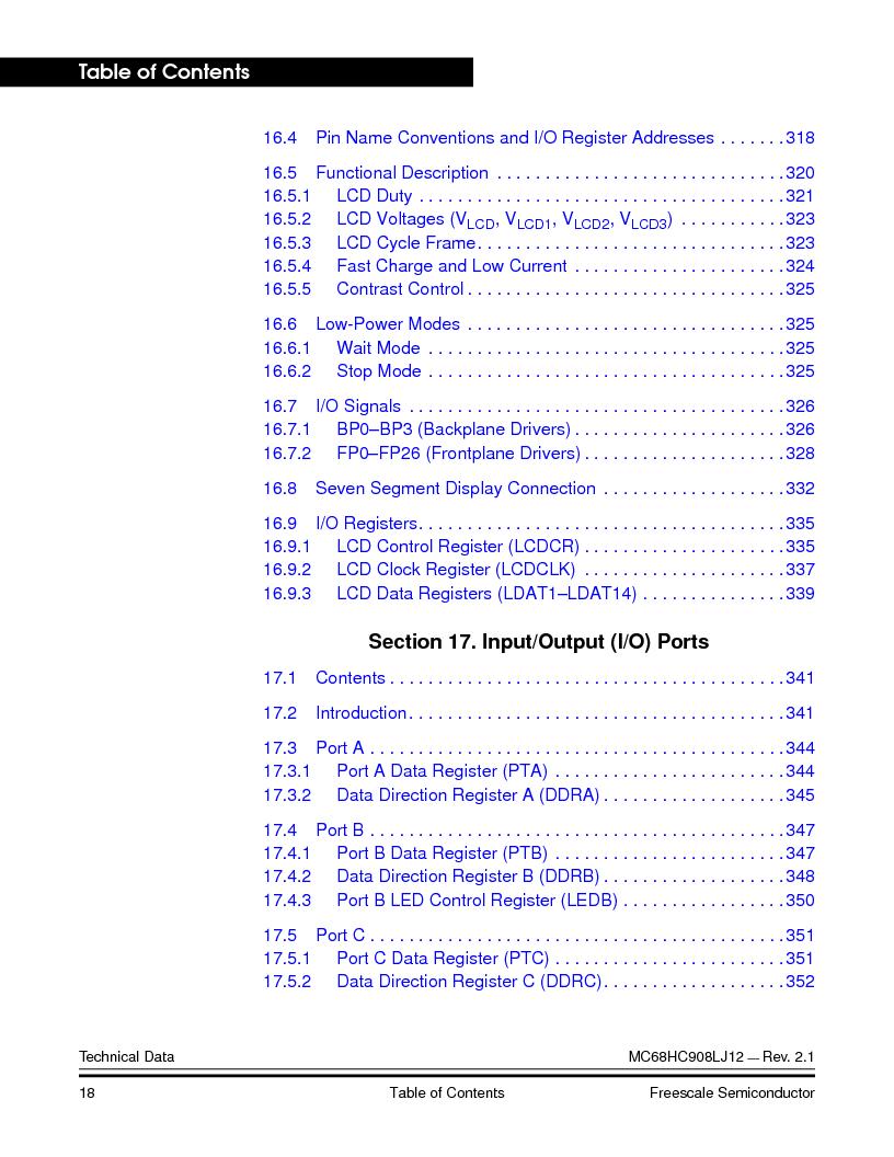 MC908LJ12CFUE ,Freescale Semiconductor厂商,IC MCU 12K FLASH 4/8MHZ 64-QFP, MC908LJ12CFUE datasheet预览  第18页