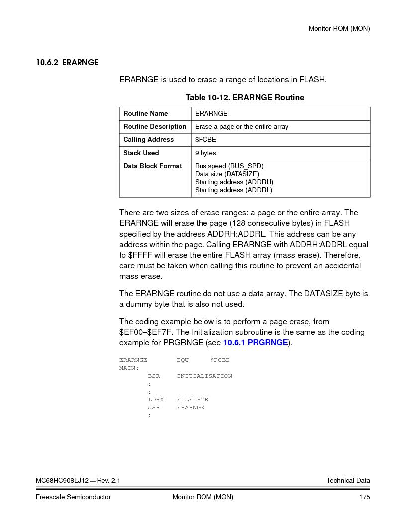 MC908LJ12CFUE ,Freescale Semiconductor厂商,IC MCU 12K FLASH 4/8MHZ 64-QFP, MC908LJ12CFUE datasheet预览  第175页