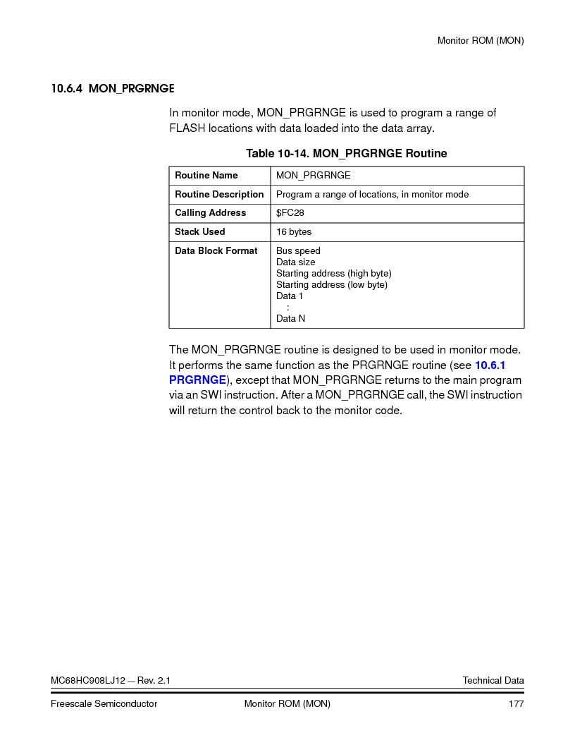 MC908LJ12CFUE ,Freescale Semiconductor厂商,IC MCU 12K FLASH 4/8MHZ 64-QFP, MC908LJ12CFUE datasheet预览  第177页