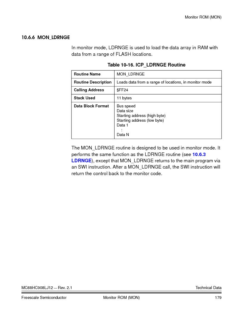 MC908LJ12CFUE ,Freescale Semiconductor厂商,IC MCU 12K FLASH 4/8MHZ 64-QFP, MC908LJ12CFUE datasheet预览  第179页