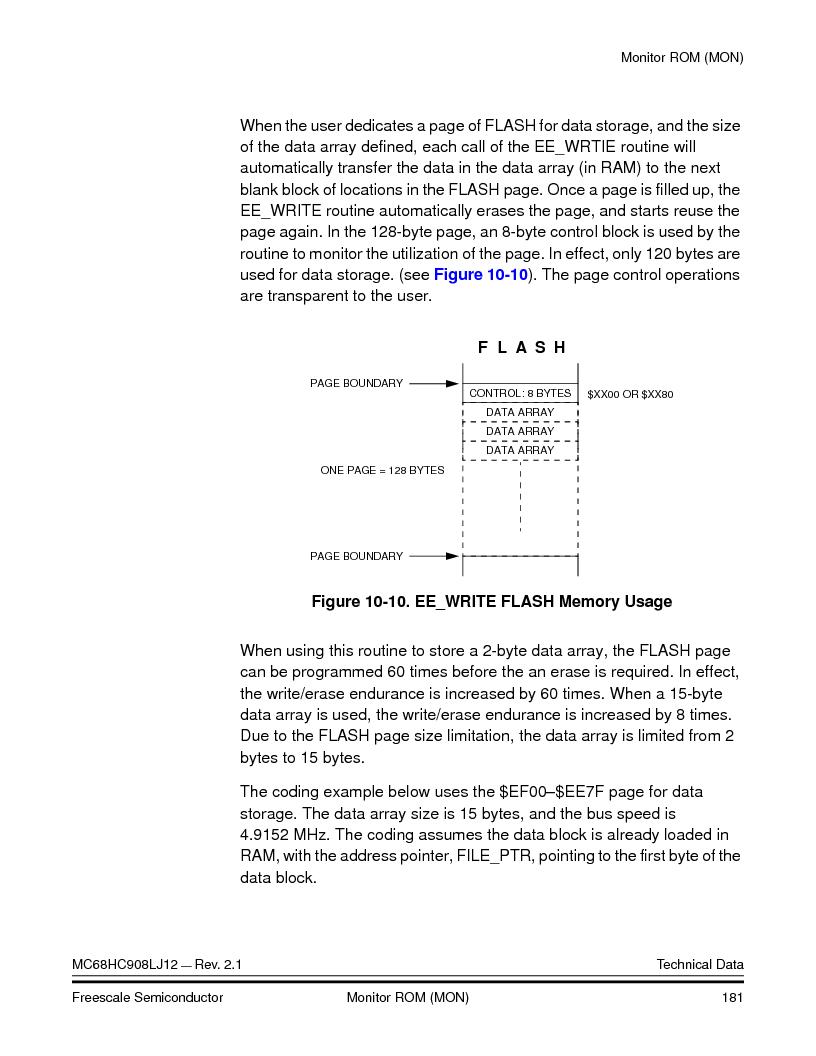 MC908LJ12CFUE ,Freescale Semiconductor厂商,IC MCU 12K FLASH 4/8MHZ 64-QFP, MC908LJ12CFUE datasheet预览  第181页