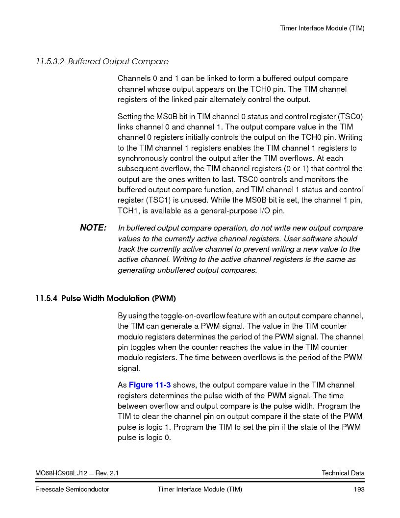MC908LJ12CFUE ,Freescale Semiconductor厂商,IC MCU 12K FLASH 4/8MHZ 64-QFP, MC908LJ12CFUE datasheet预览  第193页