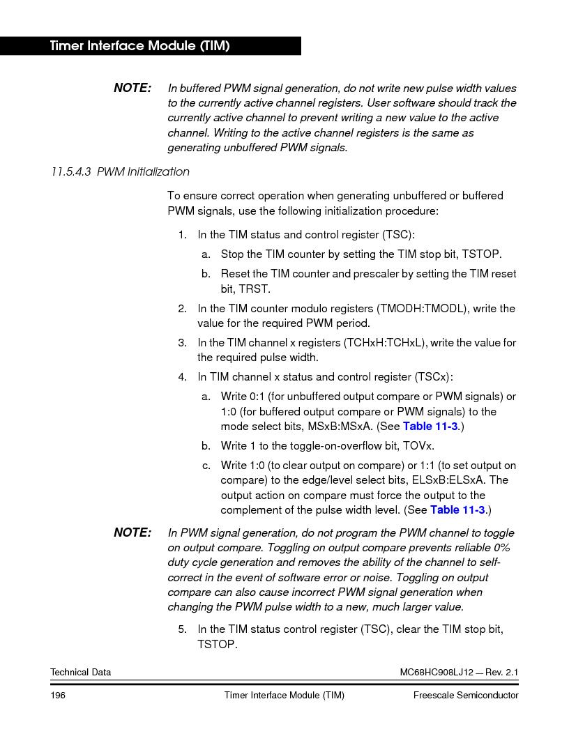 MC908LJ12CFUE ,Freescale Semiconductor厂商,IC MCU 12K FLASH 4/8MHZ 64-QFP, MC908LJ12CFUE datasheet预览  第196页