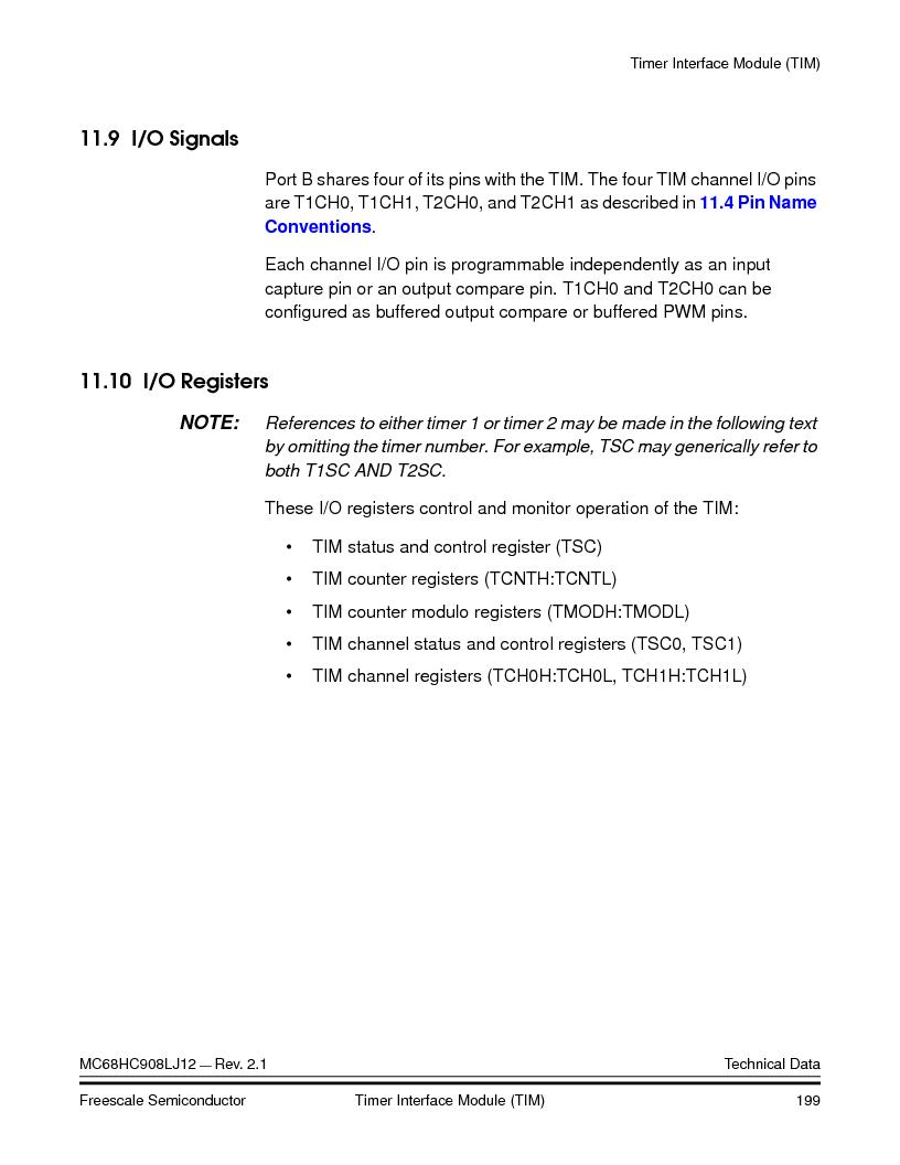 MC908LJ12CFUE ,Freescale Semiconductor厂商,IC MCU 12K FLASH 4/8MHZ 64-QFP, MC908LJ12CFUE datasheet预览  第199页