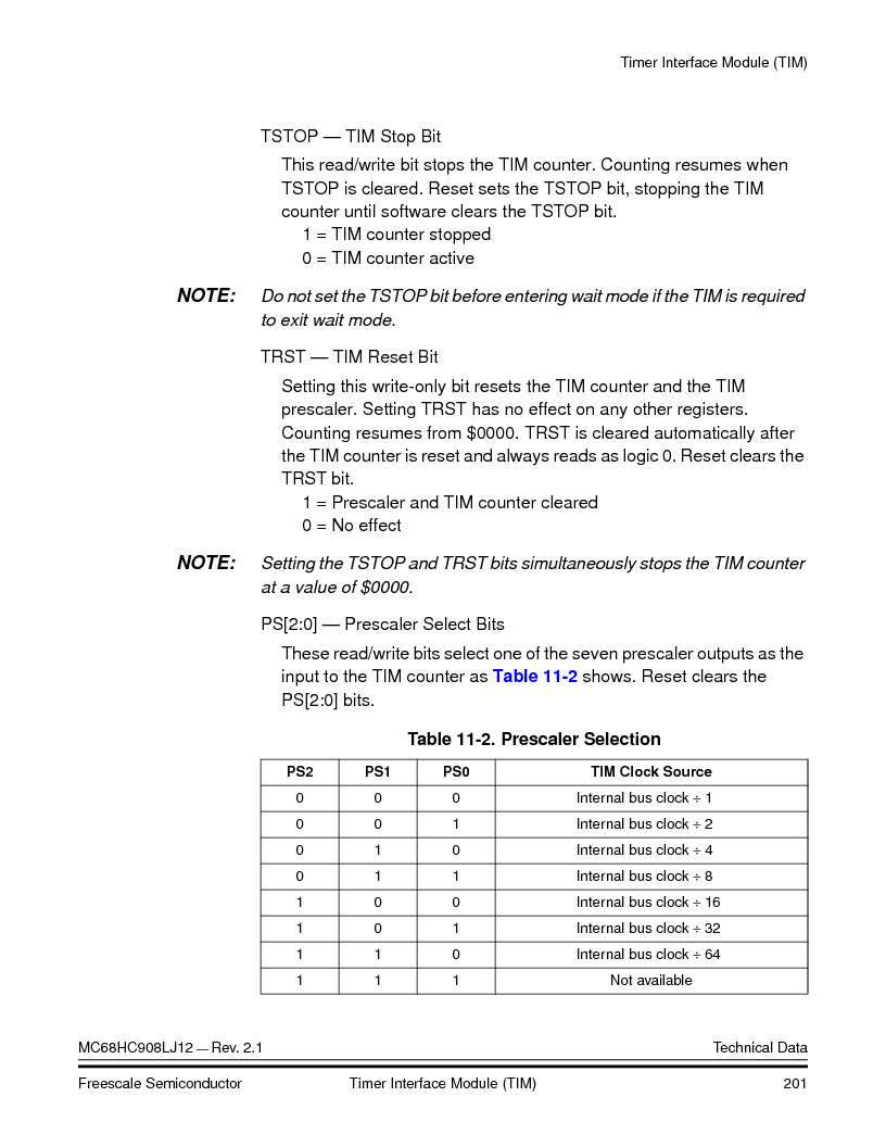 MC908LJ12CFUE ,Freescale Semiconductor厂商,IC MCU 12K FLASH 4/8MHZ 64-QFP, MC908LJ12CFUE datasheet预览  第201页