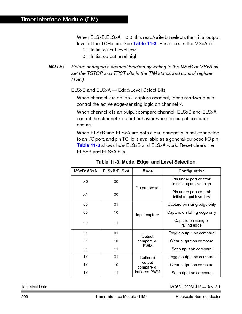 MC908LJ12CFUE ,Freescale Semiconductor厂商,IC MCU 12K FLASH 4/8MHZ 64-QFP, MC908LJ12CFUE datasheet预览  第206页