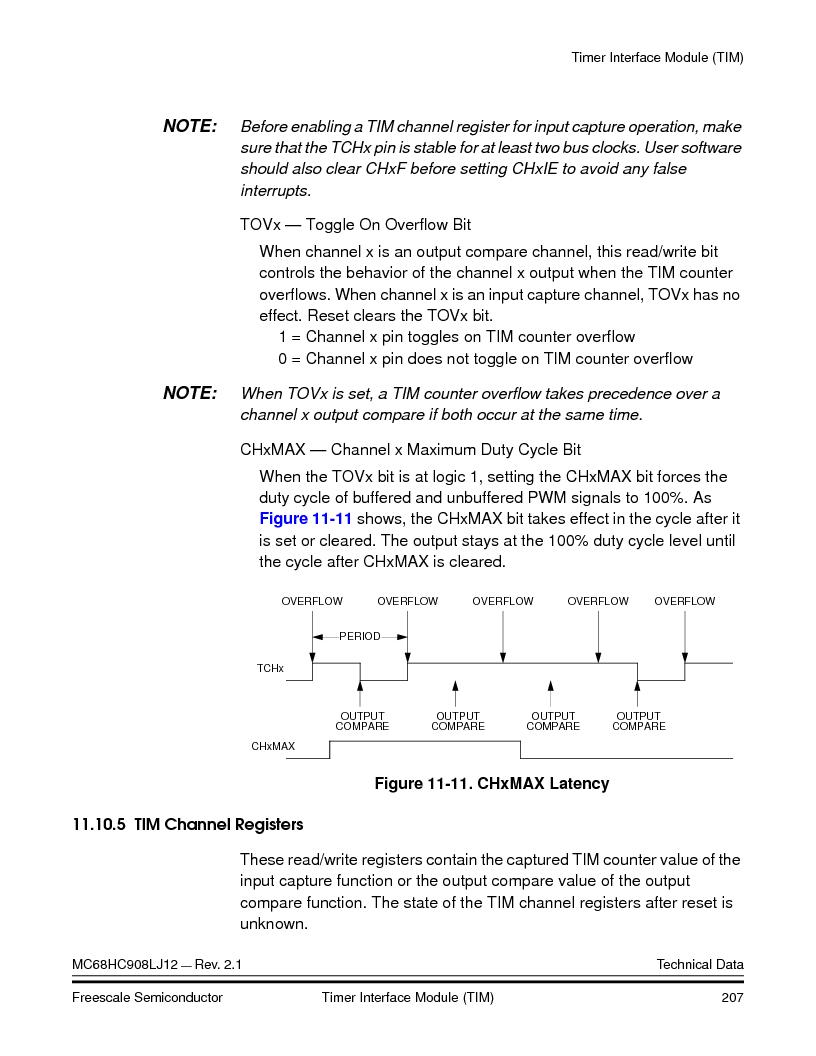 MC908LJ12CFUE ,Freescale Semiconductor厂商,IC MCU 12K FLASH 4/8MHZ 64-QFP, MC908LJ12CFUE datasheet预览  第207页