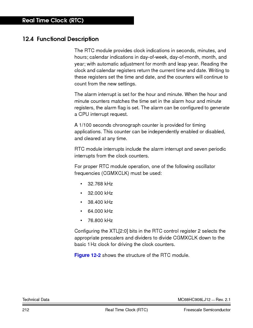 MC908LJ12CFUE ,Freescale Semiconductor厂商,IC MCU 12K FLASH 4/8MHZ 64-QFP, MC908LJ12CFUE datasheet预览  第212页