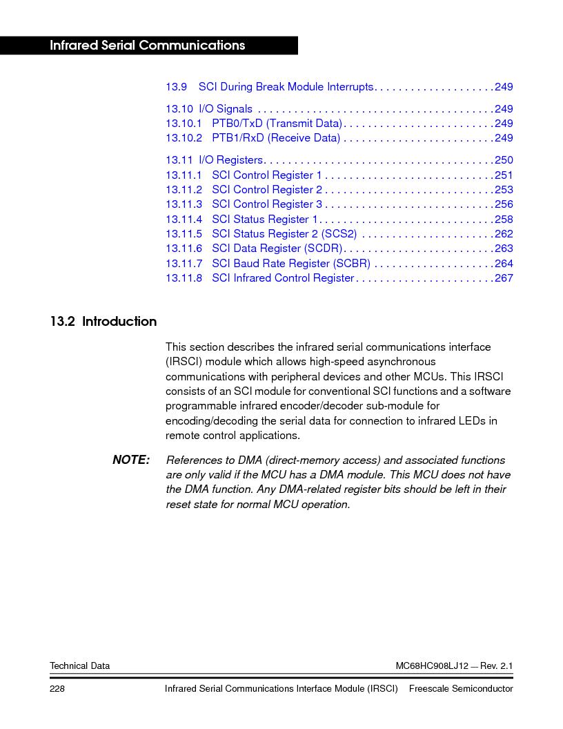 MC908LJ12CFUE ,Freescale Semiconductor厂商,IC MCU 12K FLASH 4/8MHZ 64-QFP, MC908LJ12CFUE datasheet预览  第228页