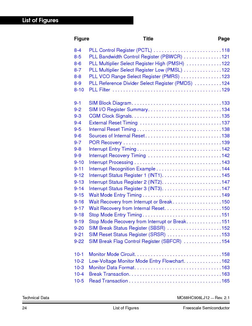 MC908LJ12CFUE ,Freescale Semiconductor厂商,IC MCU 12K FLASH 4/8MHZ 64-QFP, MC908LJ12CFUE datasheet预览  第24页